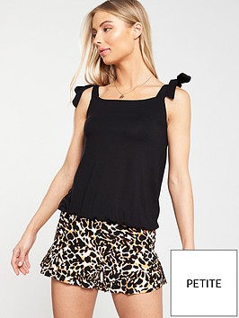 v-by-very-petite-petite-strappy-bubble-hem-top