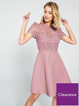 little-mistress-crochet-top-skater-mini-dress-blush