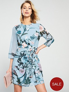 little-mistress-floral-printed-long-sleeve-mini-dress-blue