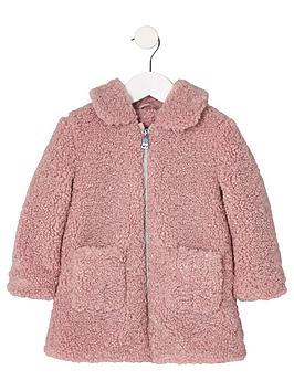 river-island-mini-mini-girls-pink-shearling-faux-fur-jacket