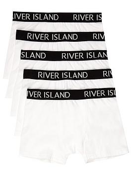 River Island River Island Boys White Colour Ri Boxers Multipack Picture