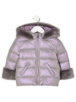 river-island-mini-mini-girls-purple-faux-fur-trim-padded-coat