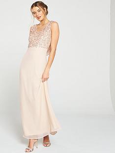 little-mistress-bridesmaid-v-neck-embellished-top-cowl-back-maxi-dress-blush