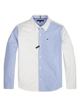tommy-hilfiger-boys-long-sleeve-colour-block-shirt-white
