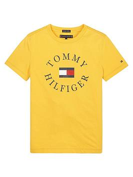 tommy-hilfiger-boys-short-sleeve-logo-t-shirt-yellow