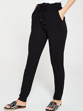 v-by-very-tapered-drawcord-jersey-trousers-black