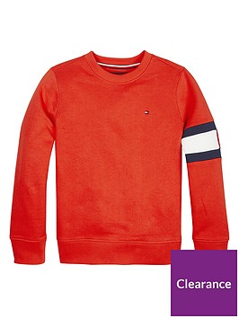 tommy-hilfiger-boys-flat-arm-crew-neck-sweat-red