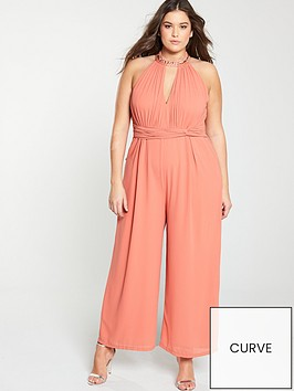 little-mistress-curve-high-neck-jumpsuit-orange