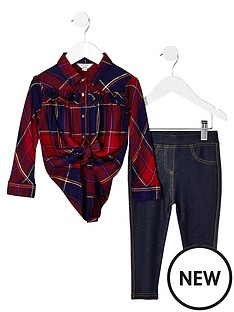 river-island-mini-mini-girls-red-check-shirt-and-legging-outfit