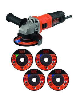 Black & Decker Black+Decker 710W Angle Grinder + 5 Discs