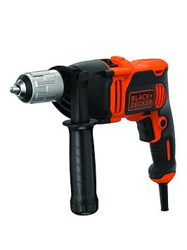Black & Decker   Black+Decker 850W Corded Hammer Drill + Kitbox