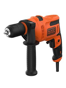 Black & Decker Black+Decker 500W Corded Var. Speed Hammer Drill + Keyless Chuck