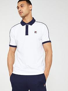 fila-klein-contrast-collar-polo-shirtnbsp-white