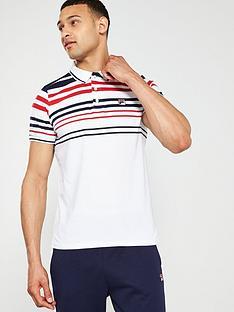 fila-geeza-engineered-stripe-polo-white