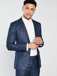 v-by-very-slim-fit-check-suit-jacket-blue
