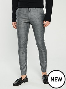 v-by-very-slim-fit-check-suit-trouser-grey