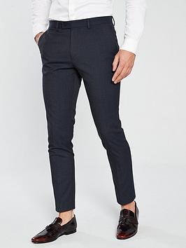 v-by-very-slim-fit-check-suit-trouser-navy