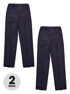 v-by-very-boys-2-pack-pull-on-trousers-navy