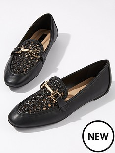 miss-selfridge-woven-loafer