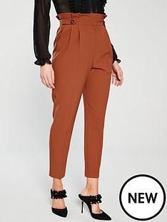 miss-selfridge-rust-paperbag-trouser