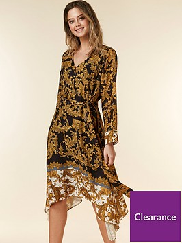 wallis-petite-baroque-dress-multi