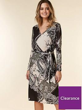 wallis-petite-patchwork-paisley-tie-dress-multi