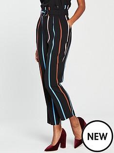 miss-selfridge-miss-selfridge-multi-stripe-belted-wide-leg-trouser