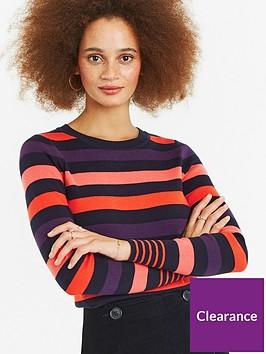 oasis-clara-stripe-jumper-multi