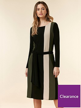 wallis-petite-colour-block-ring-jersey-dress-multi
