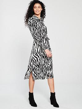 wallis-printed-buttoned-shirt-belted-dress-zebra