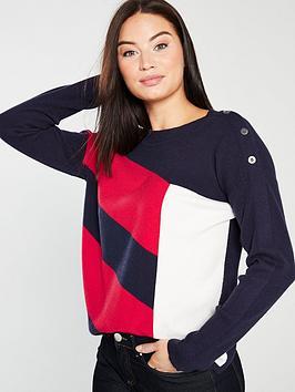 wallis-stud-sleeve-geo-jumper