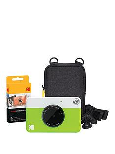 kodak-printomatic-instant-camera-with-optional-20-sheets-of-paper-and-black-case-green