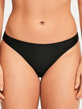 Figleaves Figleaves Rene Brazilian High Leg Bikini Briefs - Black Picture