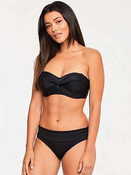 Figleaves Figleaves Rene Underwired Loop Front Bandeau Top - Black Picture