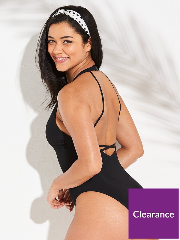 Icon Adelaide Plunge Tummy Control Swimsuit Black