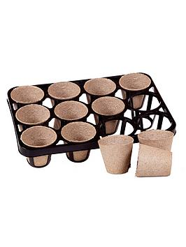 Very Skeleton Tray And 36 Bio Pots For Growing On Picture