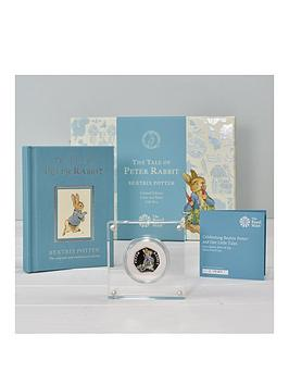 Royal Mint Royal Mint Peter Rabbit Silver Proof 50P Coin & Book Set Picture