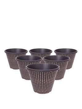 Very Pack Of 6 X 11 Inch (27Cm) Pinecone Planters Picture