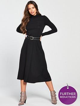 v-by-very-roll-neck-dress-blacknbsp