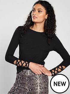 v-by-very-long-sleeve-lattice-detail-top-black