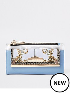 river-island-river-island-printed-fold-out-purse-light-blue