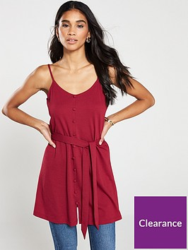 v-by-very-strappy-button-through-cami-top-red