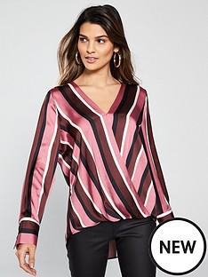 wallis-stripe-wrap-top