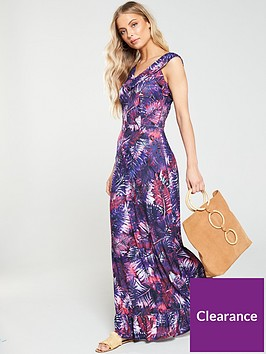 v-by-very-ruffle-jersey-crepe-maxi-dress-print