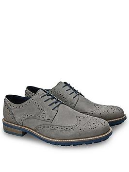 Joe Browns Joe Browns Grey Nubuck Brogues Picture