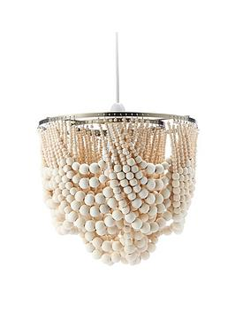 Very Miller Wooden Bead Easy Fit Ceiling Light Shade Picture
