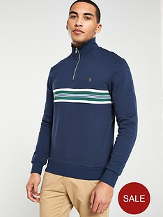 farah-quarter-zip-sweater-navy
