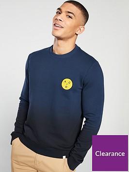 farah-garage-dip-dye-sweatshirt-navy