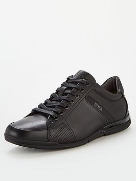 boss-athleisure-saturn-leather-trainers-black