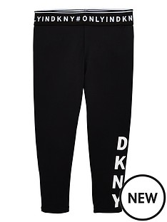 dkny-girls-crop-logo-leggings-black